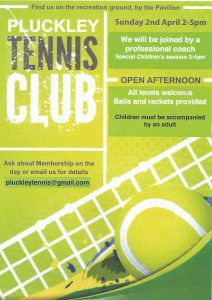 Pluckley Tennis Club Open Afternoon @ Pluckley Recreation Ground | Pluckley | England | United Kingdom